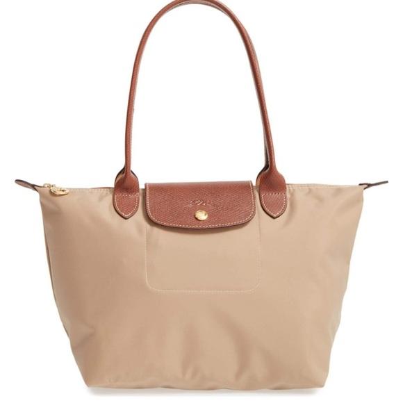 50f471583a6 Longchamp Bags   Small Le Pliage Shoulder Tote In Tan   Poshmark